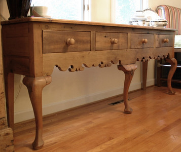 Another LONG English pine sideboard, purchased from the now shuttered Victoria and Thomas.