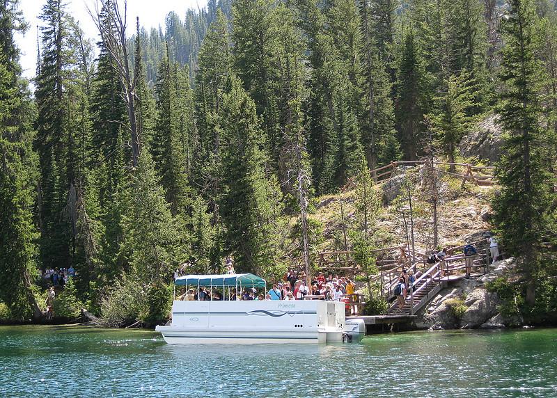 Ferry Boat to Cascade Canyon Falls