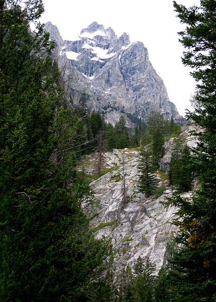View of the Grand Teton Mountain.
