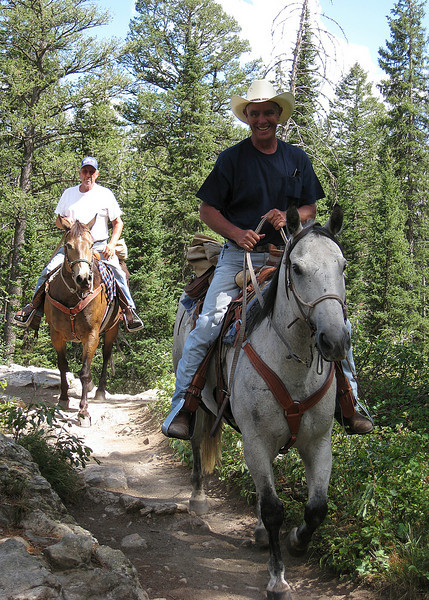 Just some horse riders we saw on the trail :)