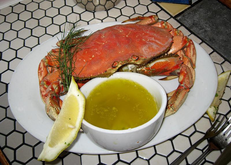 Crab at Local Ocean restaurant in Newport, OR