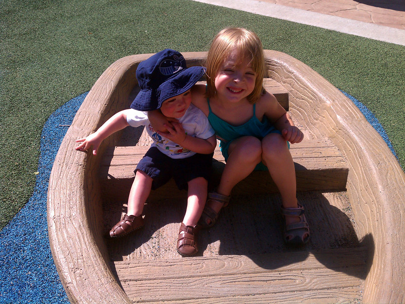 Eve and Graham at teddy bear park.