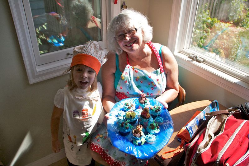 Grannie and Eve with their fantastic River Tubing cupcakes