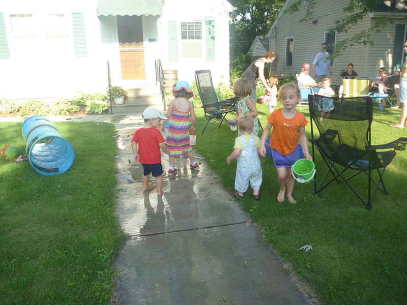 8/2/11 Very busy kids at the block party