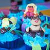 Tubing cupcake closeup