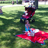 Picnicking by the river in Stillwater