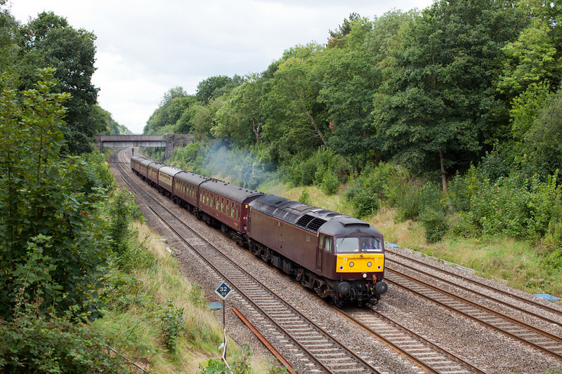 47500 thunders through Sonning Cutting with the MO 5Z94 09.18 Bristol TM-Southall ECS.8.8.11
