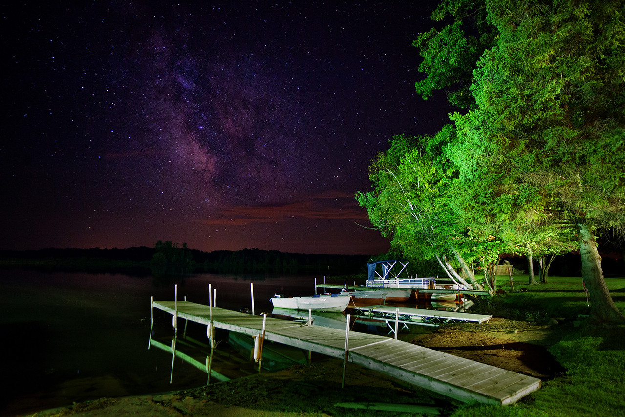 28 family members descended on Hayward for a week long vacation this summer.  I took this photo of the milky way one night.