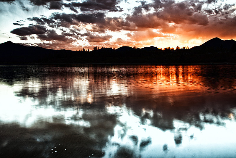Fire and ice over Steamboat lake