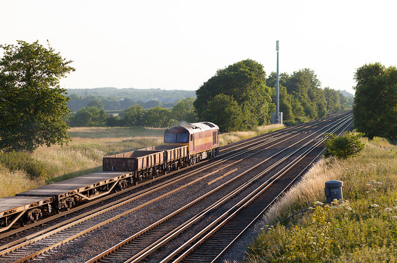 A going-away shot of 60065, Totters Lane, Winchfield with 6N13.