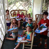 Jan's Art Academy.  Summer session.  Vivian, Isabella and Sophie 2014