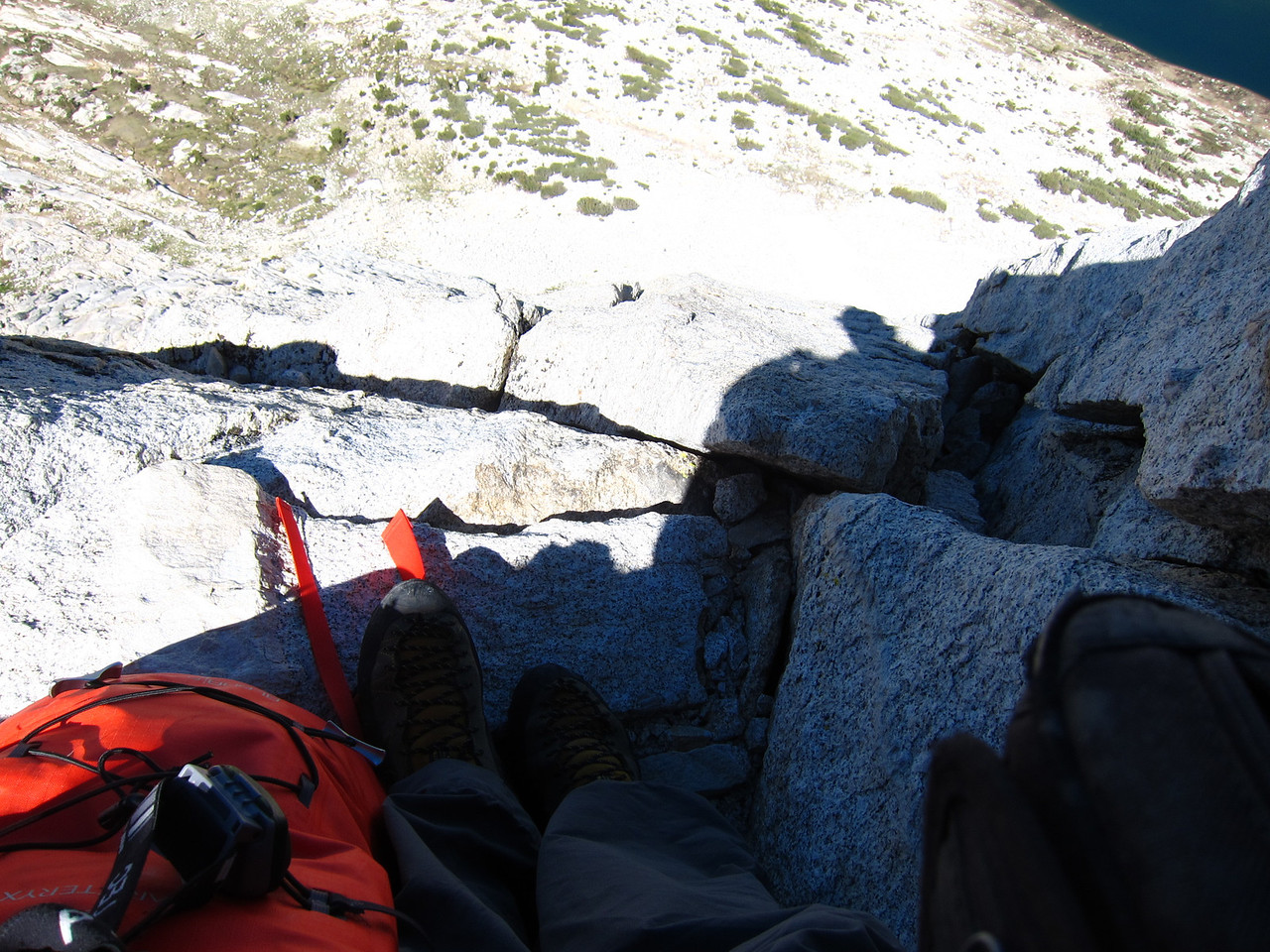 Looking down the west ridge