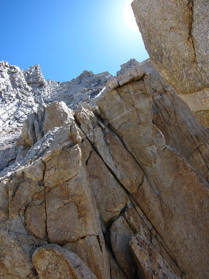 Upper part of the west ridge