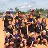 Knockouts Softball Team. Undefeated season.  Vivian 7 years old