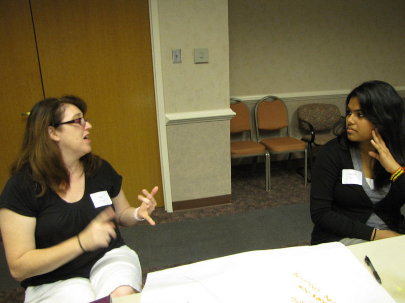 Intern icebreaker (From Left to right: Meg Williams-Carabini and Agisha Mathew)