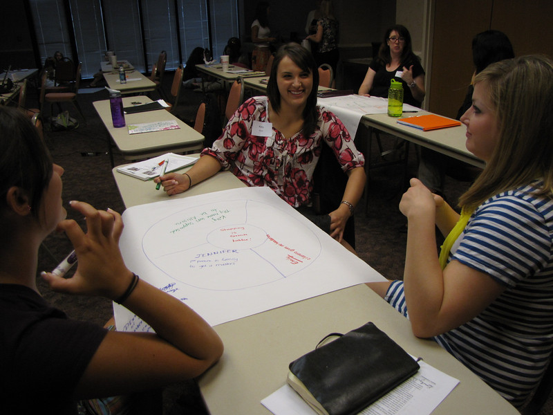 Intern icebreaker (Seated from left to right: Jennifer Link, Kelly Siverly, and Emily Duke)