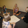 Intern icebreaker (Seated left to right: Mary Propst, Naomi Moore, Jill Wagers, and Tiffany Morris)