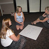 Intern icebreaker (Seated left to right: Holly Cameron, Amanda MacKay, and Gail Faithful)