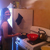 Roommate Sarah from Melbourne Australia attempting to make us crepes