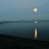 Super Moon over Lake Yellowstone