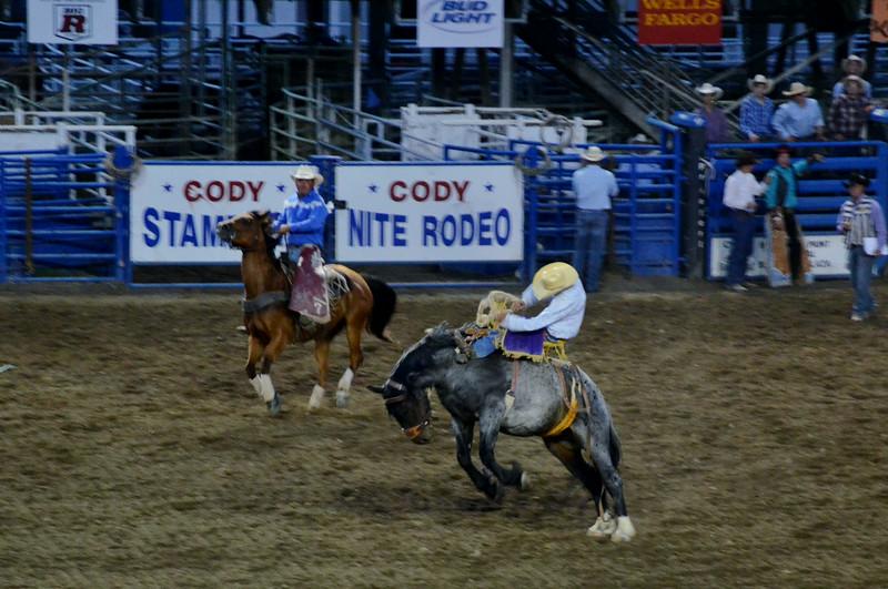 Cody Rodeo Bronc Riding