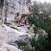 Climbing in Fagstaff