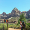 Extreme fire danger, 108 degrees, Zion NP