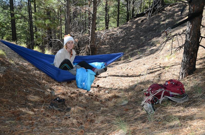 Camping before summiting Arizona's highest peak, Humphrey's Peak, Arizona