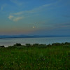 Super Moon over Lake Yellowstone