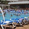 water aerobics at the resort
