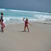 Shana, Abby, and Taylor on the beach