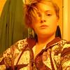 super model? Claire imitating Mom's photos