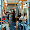 Riding the tranvia in Santa Cruz