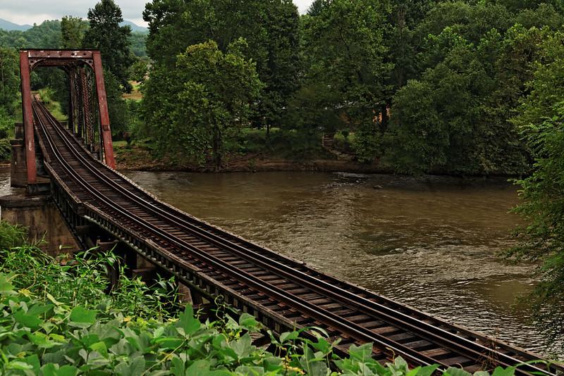 Railroad Bridge over the Tuckasegee River, Bryson City