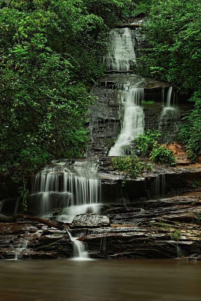 Toms Branch Falls near Bryson City