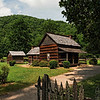 Homeplace at the Mountain Farm Museum, Oconaluftee Visitor Center.  19th Century.