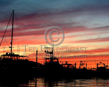 Dennis,MA July 3rd, 2005 - Sunset over Sesuit Harbor