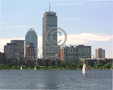 Boston,MA Prudential Tower from Cambridge side of the Charles River