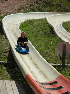 Brendan on Alpine Slide
