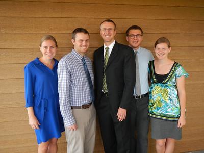 Kjirsten, Derek, Shane, Tyler, Aunika after Grandpa Harold's funeral