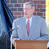 Don Knight | The Herald Bulletin<br /> Dedication of Summitville's new monument honoring veterans on Saturday.