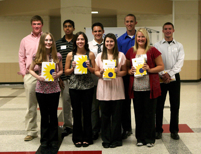 Those being honored from Wellington are from left to right, front row, Tiffany Taton, Tracy Saffell, Kimberly Diver, and Rylee Wilson; back row, Connor Vaughn, Carlo Chandler, Christian James, Ryan Jenkins, Drake Saffell. Amanda Bailey and Davis Peck were not pictured.