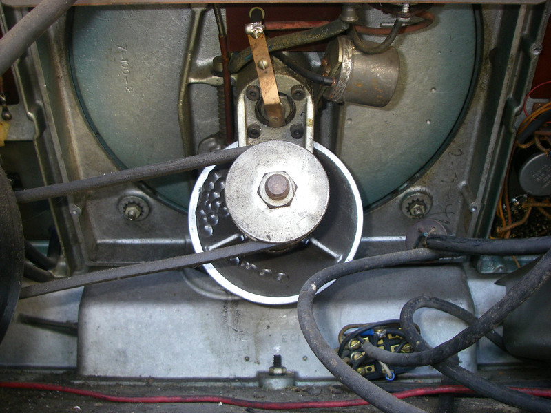 Before: Rear of drive, showing mechanical tach relay.