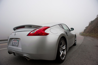 A foggy Sunday drive down CA-1 near Pacifica  (C) 2011 Brian Neal