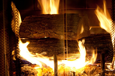 Playing with photographing the fireplace.