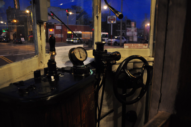 Controls of the Main Street trolley