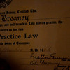My grandfather's law license