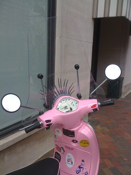 Pink Vespa ( I think) , Downtown Memphis
