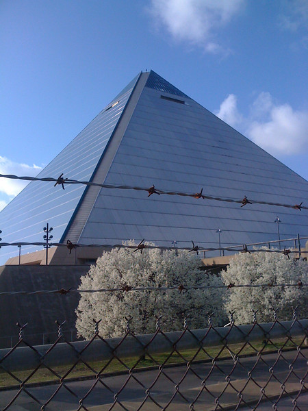 "Pyramid, Memphis... It opened in 1991 as a sports arena.. Memphis,Egypt / Memphis, TN connection. Then in 2004 a new sports arena opened with a provision the Pyramid could not compete. The last concert was held there in 2007 at the ripe old age of 16... we call it ""The Tomb of Domb!"""
