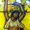 stained glass at Spaghetti Warehouse